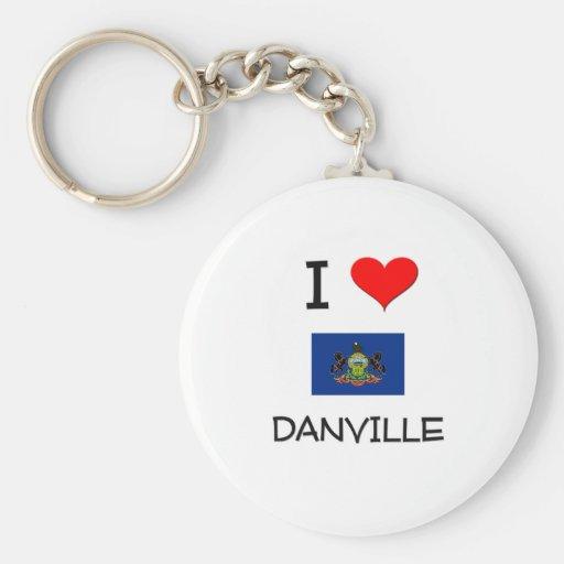 Amo Danville Pennsylvania Llaveros Personalizados