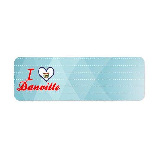 Amo Danville, Virginia Occidental Etiqueta De Remite