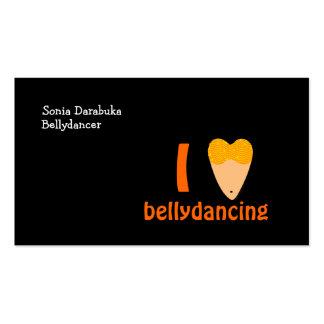 Amo danza de Belly del corazón del torso de Tarjetas De Visita