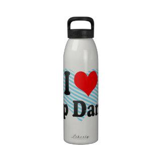 Amo danza de golpecito botella de agua reutilizable