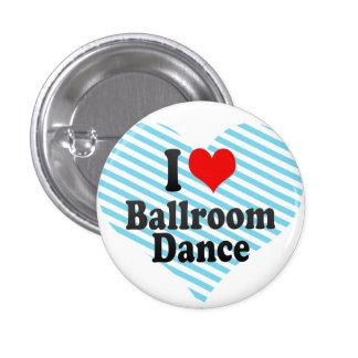 Amo danza de salón de baile pins