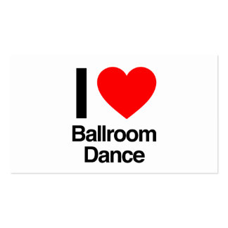 amo danza de salón de baile tarjetas de visita
