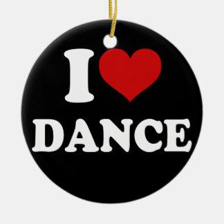 Amo danza adorno redondo de cerámica