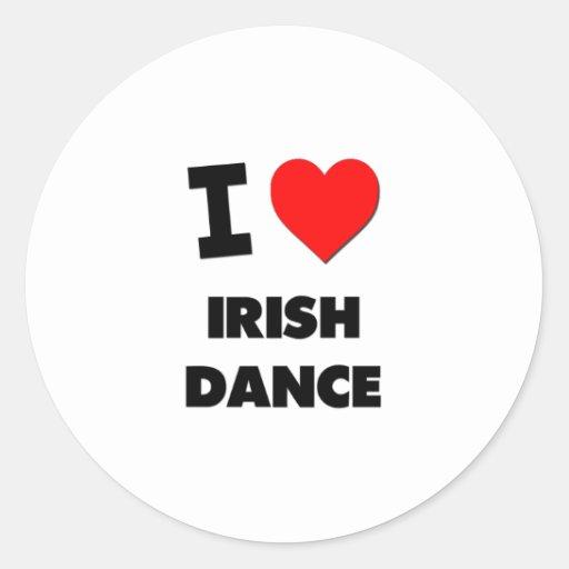 Amo danza del irlandés pegatina redonda