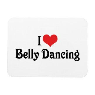 Amo danza del vientre del corazón iman de vinilo