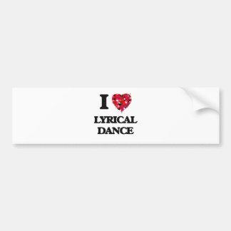 Amo danza lírica pegatina para auto