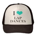 Amo danzas del revestimiento gorros bordados