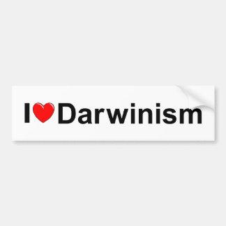 Amo darwinismo (del corazón) pegatina para auto