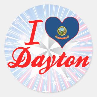 Amo Dayton, Idaho Etiquetas Redondas