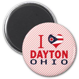 Amo Dayton, Ohio Imán Redondo 5 Cm