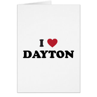 Amo Dayton Ohio Tarjeta De Felicitación