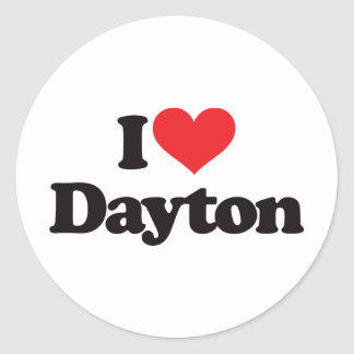 Amo Dayton Pegatina Redonda