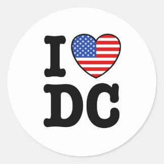 Amo DC Pegatina Redonda