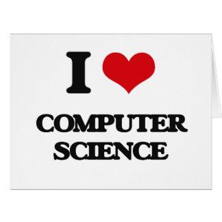 Amo de informática tarjeta de felicitación grande