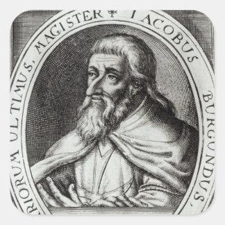 Amo de Jacques de Molay de los caballeros Templars Pegatina Cuadrada