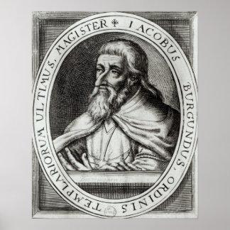 Amo de Jacques de Molay de los caballeros Templars Póster