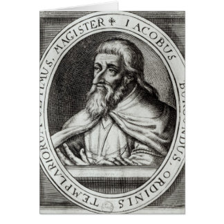 Amo de Jacques de Molay de los caballeros Templars Tarjeta