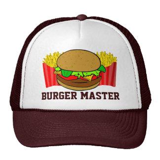 Amo de la hamburguesa gorras