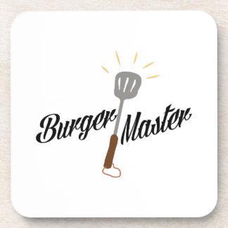 Amo de la hamburguesa posavasos de bebida