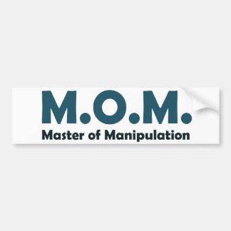 Amo de la MAMÁ de la manipulación Pegatina Para Auto