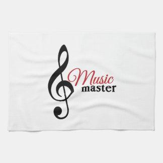 Amo de la música toallas de mano