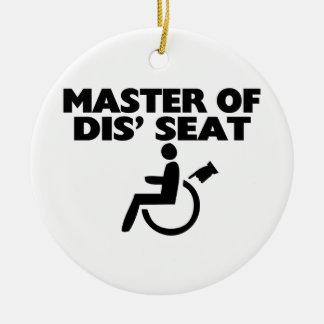 Amo de la silla de ruedas de Seat del SID Adorno Redondo De Cerámica