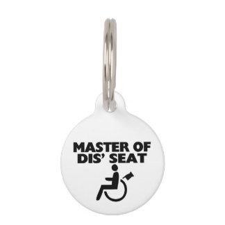 Amo de la silla de ruedas de Seat del SID Identificador Para Mascotas