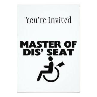 """Amo de la silla de ruedas de Seat del SID Invitación 5"""" X 7"""""""