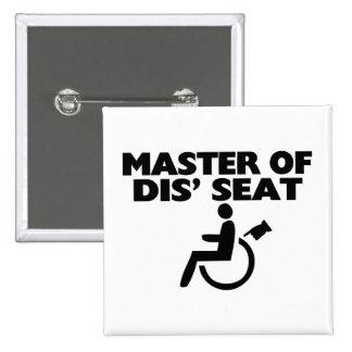 Amo de la silla de ruedas de Seat del SID Pin Cuadrado