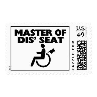 Amo de la silla de ruedas de Seat del SID Sellos Postales