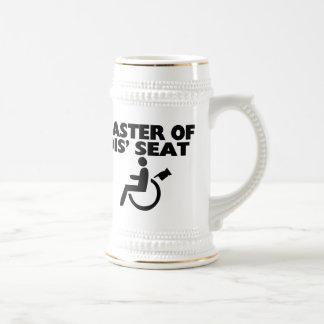 Amo de la silla de ruedas de Seat del SID Tazas De Café