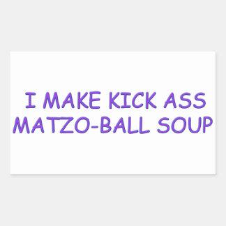 AMO DE MATZO-BALL PEGATINA RECTANGULAR