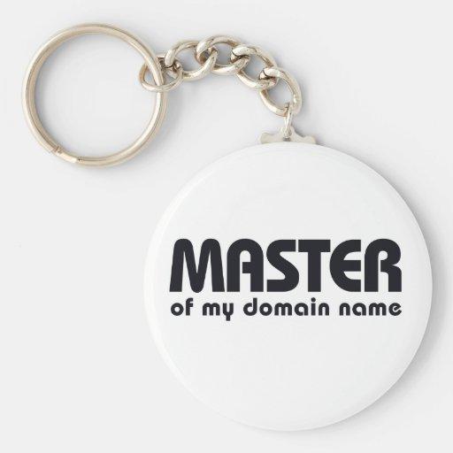 Amo de mi Domain Name Llavero Personalizado