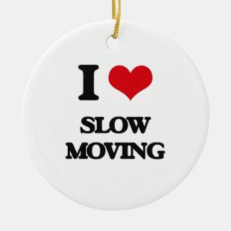 Amo de movimiento lento adorno redondo de cerámica