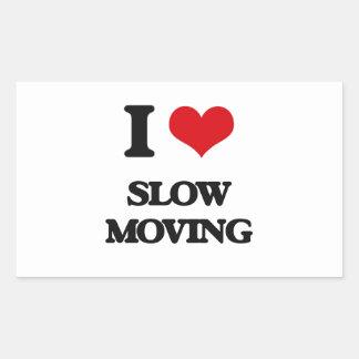 Amo de movimiento lento pegatina rectangular