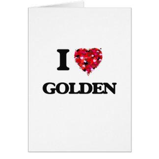 Amo de oro tarjeta de felicitación