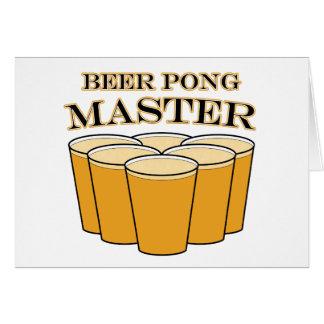 Amo de Pong de la cerveza Tarjeton