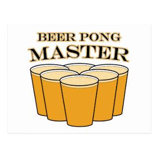 Amo de Pong de la cerveza Tarjetas Postales