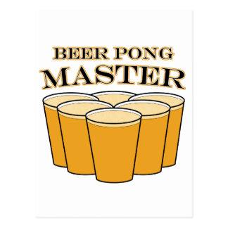 Amo de Pong de la cerveza Tarjeta Postal