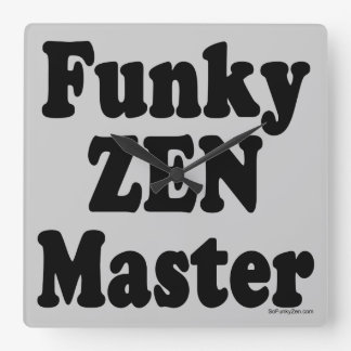 Amo de zen enrrollado reloj cuadrado