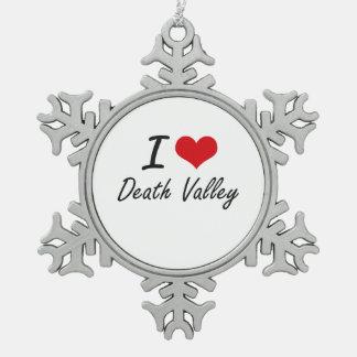 Amo Death Valley Adorno De Peltre En Forma De Copo De Nieve