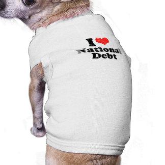 AMO DEBT png NACIONAL Camisas De Mascota