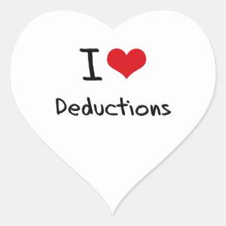 Amo deducciones calcomania corazon