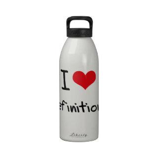 Amo definiciones botella de agua
