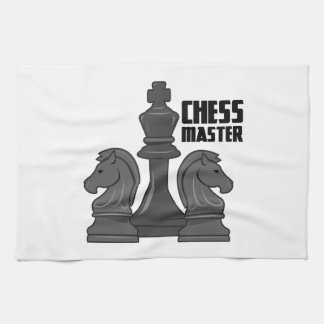Amo del ajedrez toalla de mano