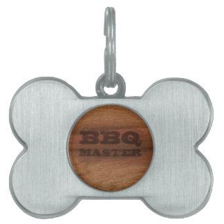 Amo del Bbq Placa Mascota
