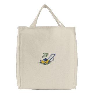 Amo del césped bolsas bordadas