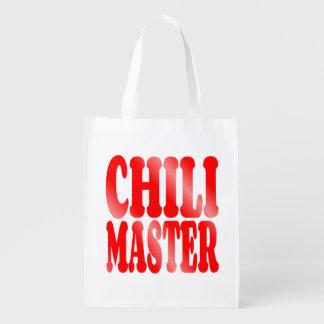 Amo del chile en rojo bolsa de la compra