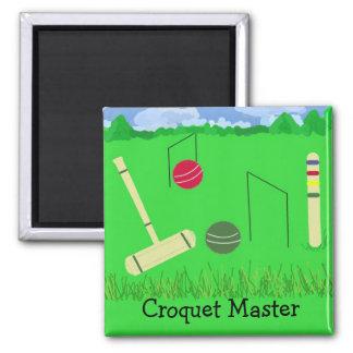 Amo del croquet imán cuadrado