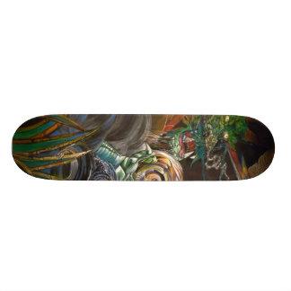 Amo del dragón y monopatín de oro del orbe patines